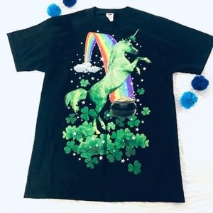 Unicorn Rainbow Clover Graphic T shirt